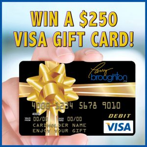 Win a $250 Gift Card from Larry Broughton!